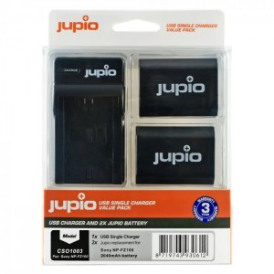 Jupio Kit 2x Battery NP-FZ100 USB Single Charger